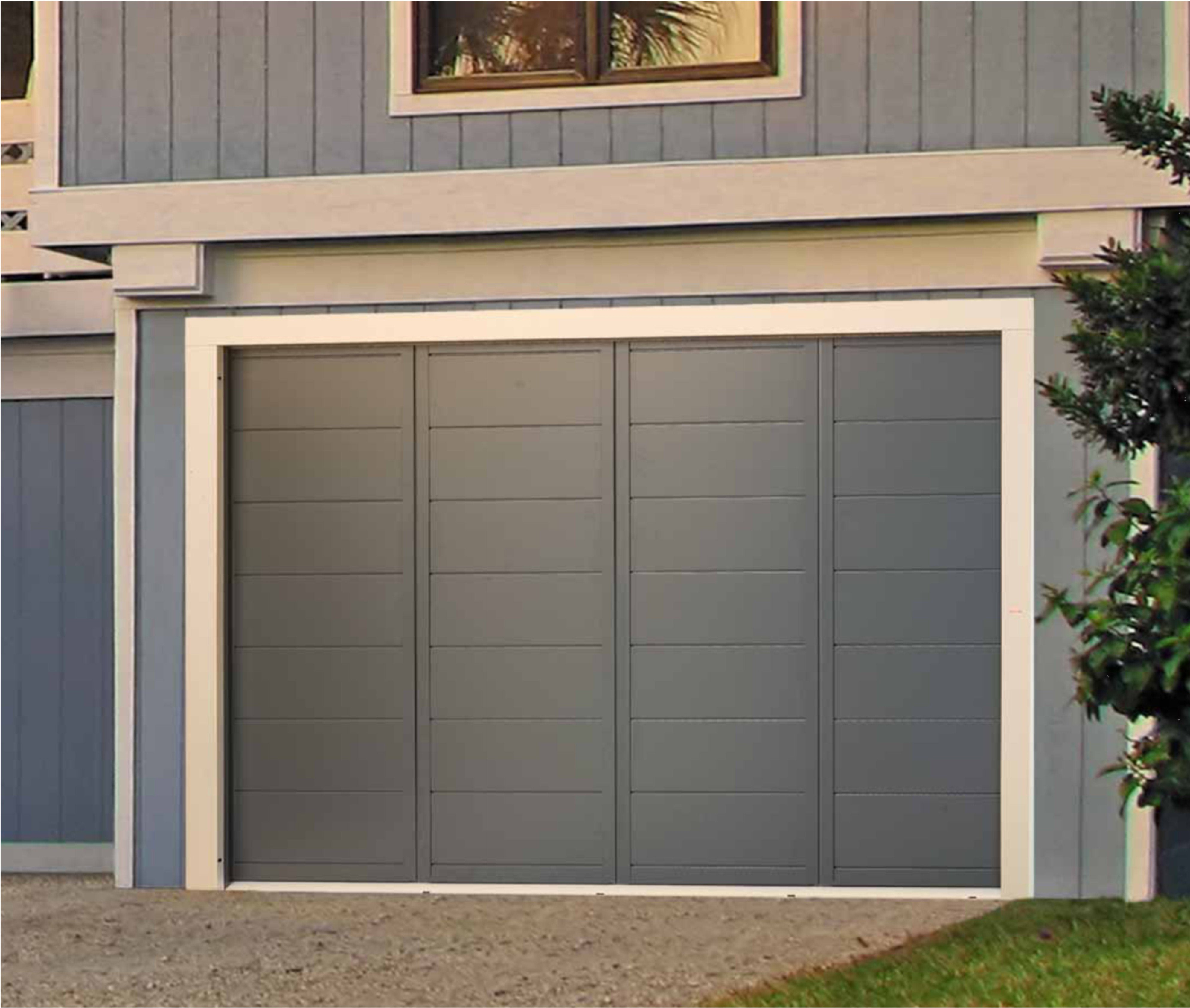 Porte de garage d placement lat ral christ al portail - Installer une porte de garage ...